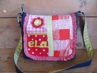 f33d61b380f Tof tasje patchwork rose/rood